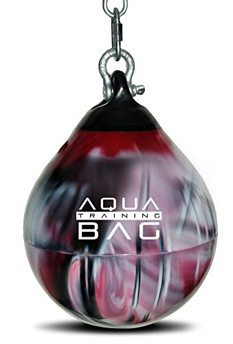 Blood Red Aqua Head Hunter 12 Inch, 35 Pound Slip Ball Punching Bag Hybrid by Aqua Training Bag