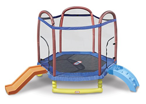 Little Tikes 7' Climb 'N Slide Trampoline (Best Trampoline For 3 Year Old)