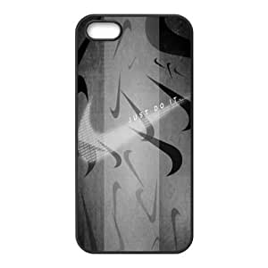 NIKE JUST DO IT Classic Design Print Black Case With Hard Shell Cover for Apple iPhone 5/5S