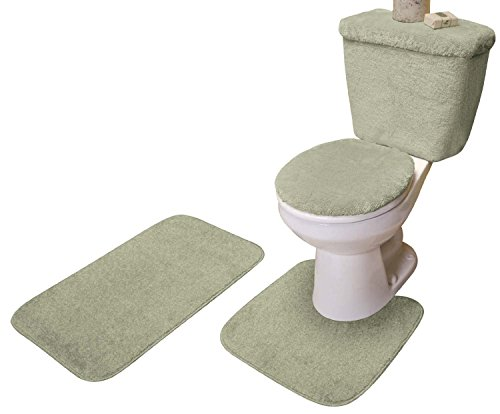 5 PIECE BATH RUG, CONTOUR, LID, TANK LID & TANK COVER SET from Madison Industries