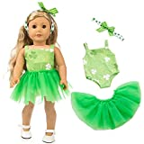 yijing Doll Clothes Outfits Set,Beautiful Yarn Dancing Dress for 18 Inch American Toy Girl,Best Gift for Girl Boy Baby (Green)