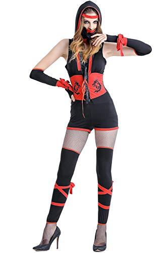 Halloween Costume Women Ninja Costume Sexy Geisha Costume Assassin Costume Leg Avenue Suit (Medium) -