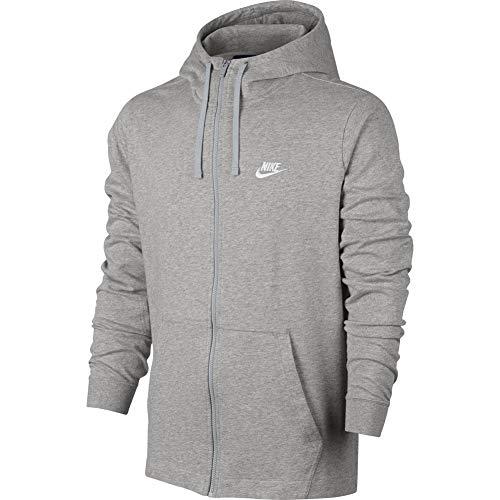 Felpa Cappuccio Giacca Club White dk Nike Con Fz Grey Heather EwpqOxdtA