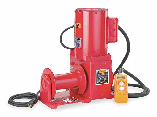 115VAC Lifting, Pulling Electric Winch with 13.0 fpm and 2000 lb. 1st Layer Load Capacity