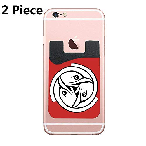 Dragon Triskele - Cellcardphone Phone Card Holder Adhesive Stick-on Credit Card Wallet Phone Case Pouch Sleeve Pocket for Most of Smartphones(iPhone/Android/Samsung Galaxy) - (Celtic Art Bird Head Triskele 2pc)