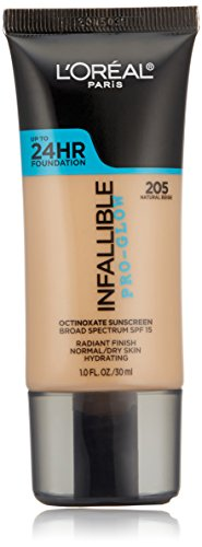 L'Oréal Paris Infallible Pro-Glow Foundation, Natural Beige, 1 fl. oz.