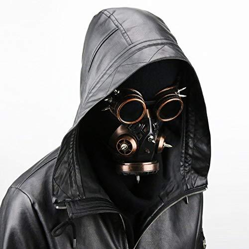 Xinxin Halloween-Maske, Antivirus-Schutzbrille, 3 Farben Zur Auswahl,Brass