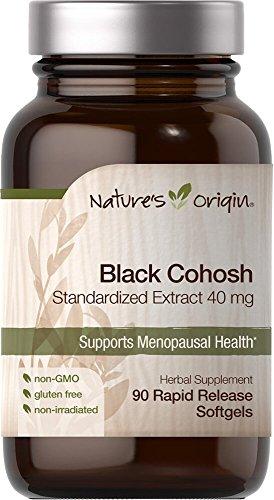 - Nature's Origin Black Cohosh Standardized Extract 40 mg-90 Rapid Release Softgels