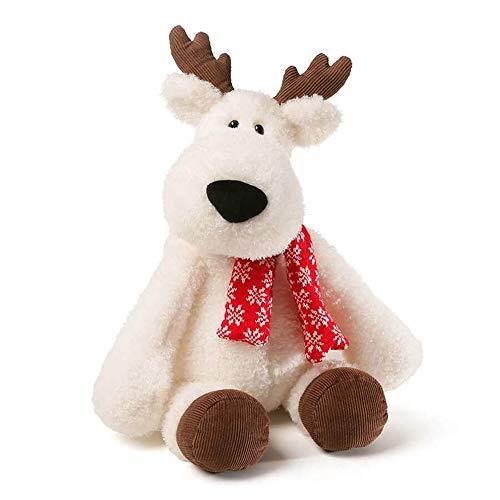 GUND Aspen Reindeer Holiday Stuffed Animal Plush, White, 18
