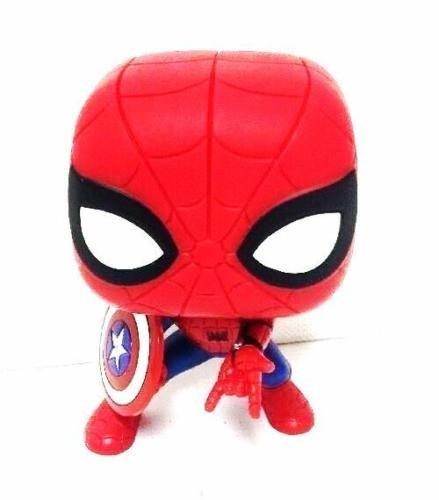 Funko Pop Marvel Civil War Spider-man With Captain America Shield Vinyl Figure