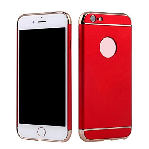 Price comparison product image AutumnFall Luxury Ultra-thin Plating Shockproof Armor Back Case Cover for iPhone 6 6S 4.7inch (Red)
