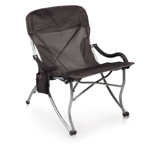 ONIVA - a Picnic Time Brand PT-XL Over-Sized 400-Lb. Capacity Outdoor Folding Camp Chair, Black