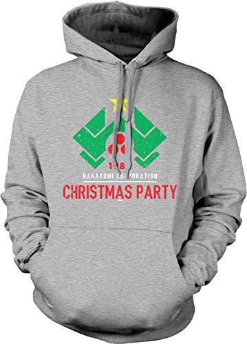 Tcombo 1988 Nakatomi Christmas Party - Xmas Unisex Hoodie Sweatshirt (Light Gray, Large) (The Cold Light Of Day Bruce Willis)