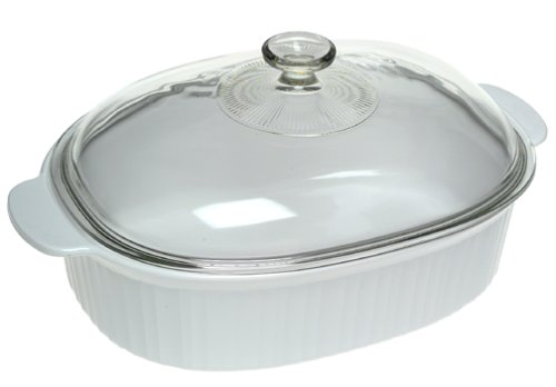 CorningWare French White 4-Quart Covered Casserole by CorningWare