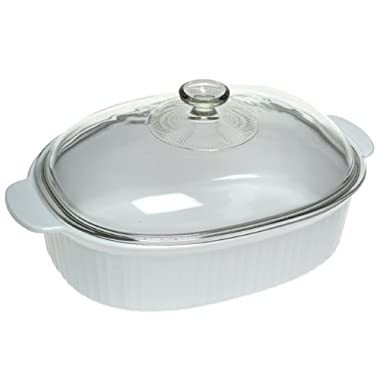 CorningWare French White 4-Quart Covered Casserole