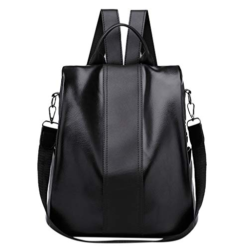LUXISDE Women's Fashion Solid Color Backpack Anti-Theft Bag Wild Shoulder Bag Waterproof ()