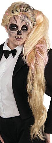 [Lady Gaga Side Ponytail Wig, Multicolored, One Size] (Lady Gaga Born This Way Wig)