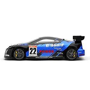 RC Remote Control Radio Exceed RC 1/18 Mad Pulse Brushless Drift Car Ready to Run (FireBlue)