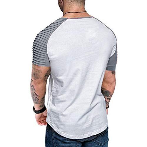 Camisetas Hombre Manga Corta 2019 Nuevo SHOBDW Moda Blusas Hombre ...