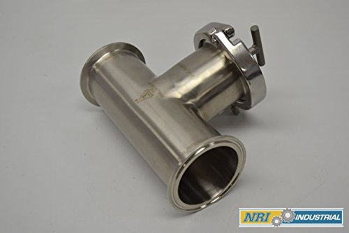 NEW SANI-MATIC 740961 2-1/2 IN TRI CLAMP STAINLESS TEE STRAINER ()