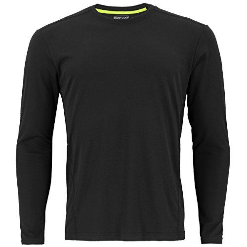 adidas Mens Baselayer Climalite UPF Long-Sleeve Crew Shirt Underwear (1-Pack), Black, Large