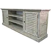 Vintaag Collection Wide TV Console/Cabinet, 80 x 16 x 28, Gray