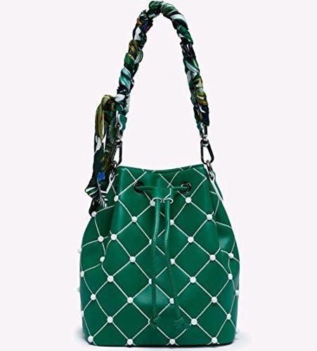 Shoulder Girl GAOQQ Orange Fairy Shoulder Wild National Bucket Bag Bag Summer Style Strap Braided Female Green Bag wqFTXFz