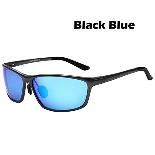 aluminio de Gafas conducción para Black de de los de polarizadas sol UV400 vintage magnesio en de hombres Blue rojo conductores protección estilo aleación gafas Gafas TIANLIANG04 Xwq7UxBzq
