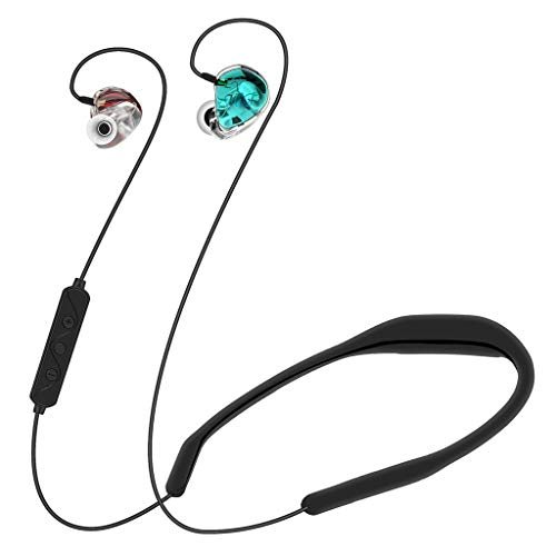 FIged (2019 New) LX8 Hight-end Boutique Dynamic Iron Sports 4.2 Headset Voice Answering Can Connect to All Brand Mobile Phone with Bluetooth Function ()