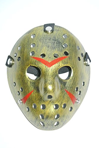Halloween Masks for Costumes Masquerade Carnival Fashion Cosplay Party Masks (Friday The 13th Horror Hockey Gold) - Easy Game Of Thrones Halloween Costumes