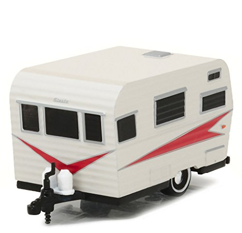 Greenlight 1: 64 Hitched Homes Series 1 - 1959 Siesta Travel Trailer Diecast Vehicle