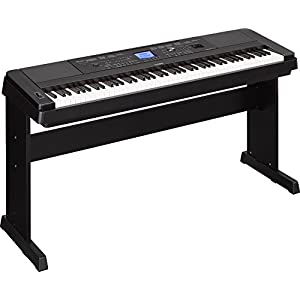 Yamaha DGX-660 88-Key Weighted Action Digital Grand Piano Premium with Matching Stand, Black