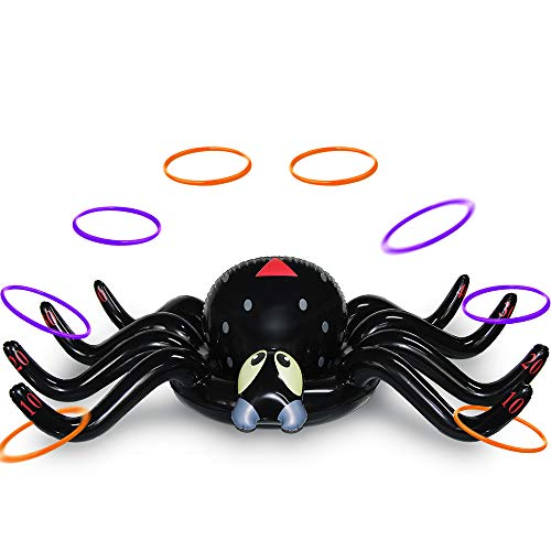 MeiGuiSha Halloween 50 Inch Huge Inflatable Spider Ring Toss Game with 8 Ring