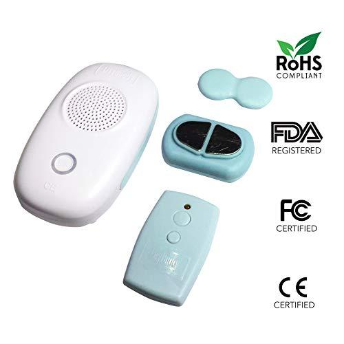 (DryBuddyFLEX 3 New 3rd Gen. Long-Range True Wireless Bedwetting Alarm System with Magnetic Sensor &)