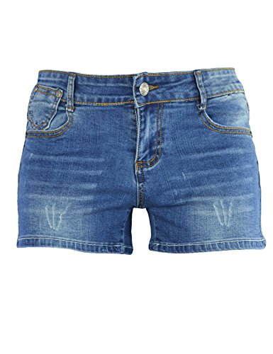 PHOENISING-Womens-Sexy-Stretchy-Fabric-Distressed-Denim-Shorts