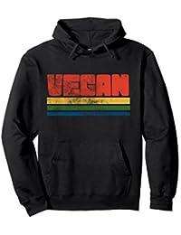Vintage style Vegan pullover hoodies retro veganism hoodie