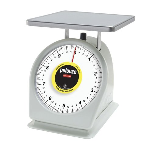 Rubbermaid Commercial Products FG810W Washable Food Service Mechanical Portion Control Scale, Standard, 10 - Dial Portion Control Scale