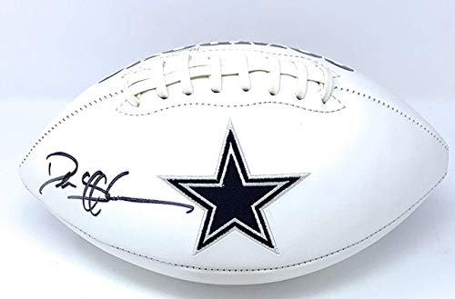Deion Sanders Dallas Cowboys Signed Autograph Embroidered Logo Football Steiner Sports Certified from Mister Mancave