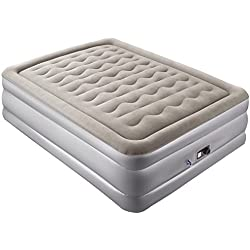 Air Mattress, Sable Upgraded Elevated Inflatable Airbed with Built-in Electric Pump and Storage Bag for Camping Overnight Guest, Height 19 inches, Queen Size