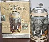 Budweiser Endangered Species Elephant Lidded Stein