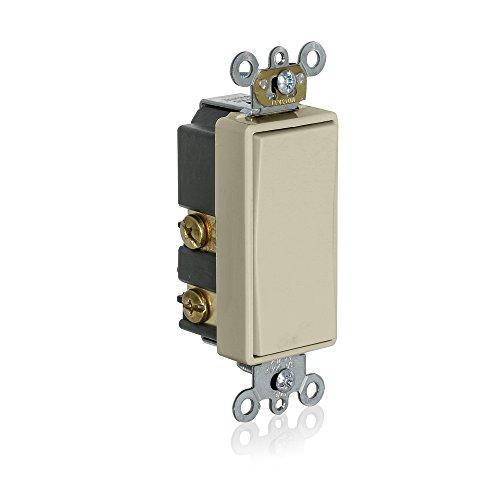 Leviton 56080-2T Momentary Contact SPST Decora Plus Rocker Switch, Light Almond, (Rocker Switch Plus Decora)
