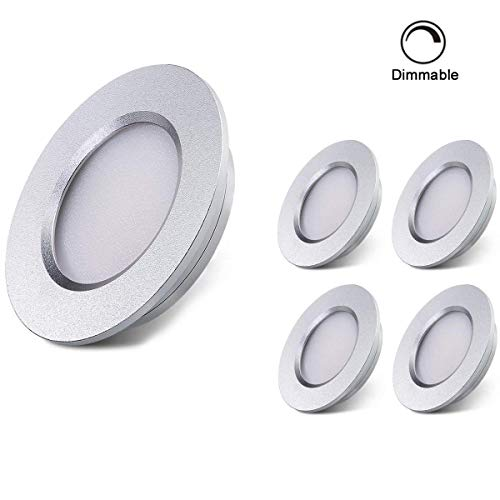 Interior Cabinet Lighting - ALOVECO LED RV Boat Ceiling Light 12V LED Recessed Cabinet Lights Waterproof Ultra-Thin LED Interior Lighting for Motorhome Sailboat Yacht 3000K Warm White(4 Pack) (3000K)