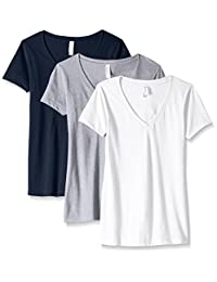 Clementine Apparel Womens Ideal V-Neck T-Shirt (Pack of 3) T-Shirt