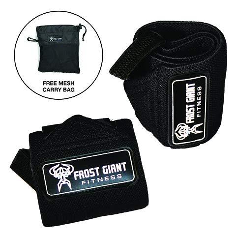 日本未入荷 Frost Black Giant ボディビル Fitness B07LH7SD6D ウエイトリフティング リストラップ リフティングストラップセット クロスフィット パワーリフティング ご家庭での筋トレ ボディビル 激しいジムでの筋トレ用 手と手首を保護する装備 男女兼用 B07LH7SD6D Black Wrist Black Wrist, オークハウスいすず質店:55cf56b1 --- arianechie.dominiotemporario.com