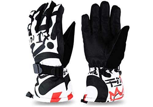 (AS FISH Waterproof Warmest Winter Snow Gloves Ski Gloves for Mens,Womens,Younth (Chinese Ink,)