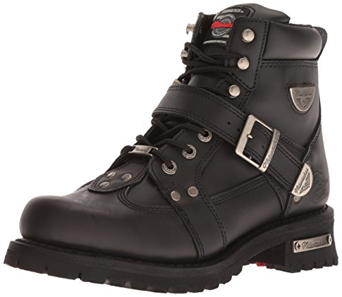 Milwaukee Motorcycle Clothing Company Road Captain Leather Women's Motorcycle Boots (Black, Size 10C)
