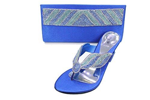 Diamante UK Blue Women Wear SAN2027B Ladies Crystal Wedding amp; Walk Bag Matching Bridal Shoes amp; R xEwEYqtZU