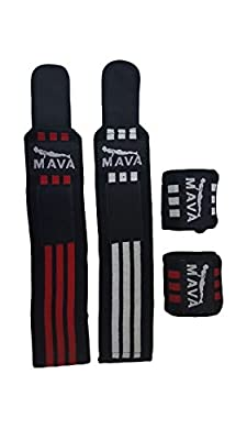 Wrist Wraps (2 Pair/4 Wraps) for Training & Workouts - 14 inch long/ 3 inch wide