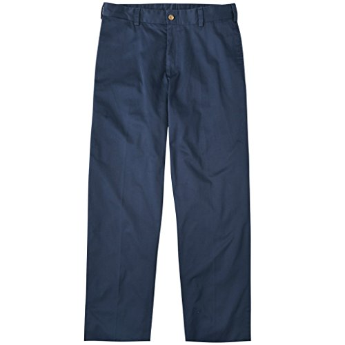 Bill's Khakis Mens M2 Classic Fit Polished Cotton Twill Trouser Pants, Navy, 32W x 30L ()