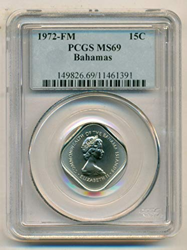 - 1972 BS Bahamas Hibiscus Low Mintage 15 Cents MS69 PCGS